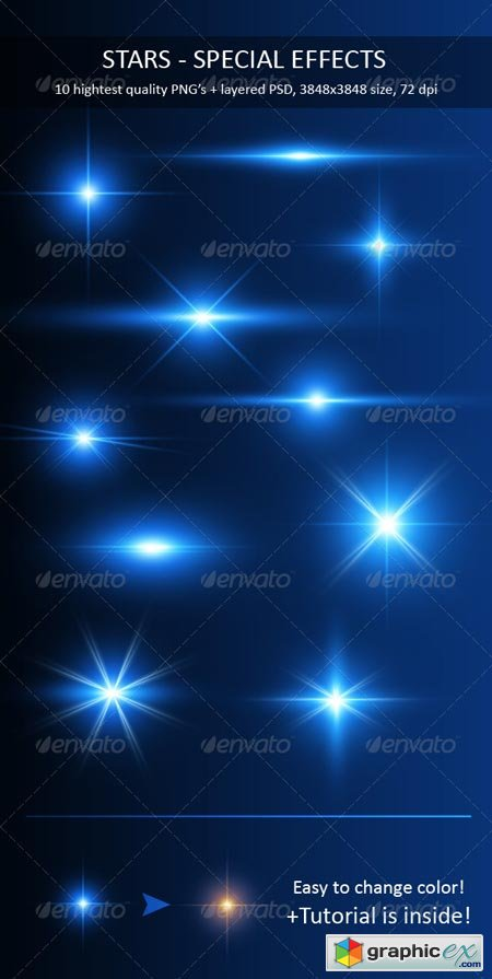 Stars - Special Effects Pack 298990 » Free Download Vector Stock