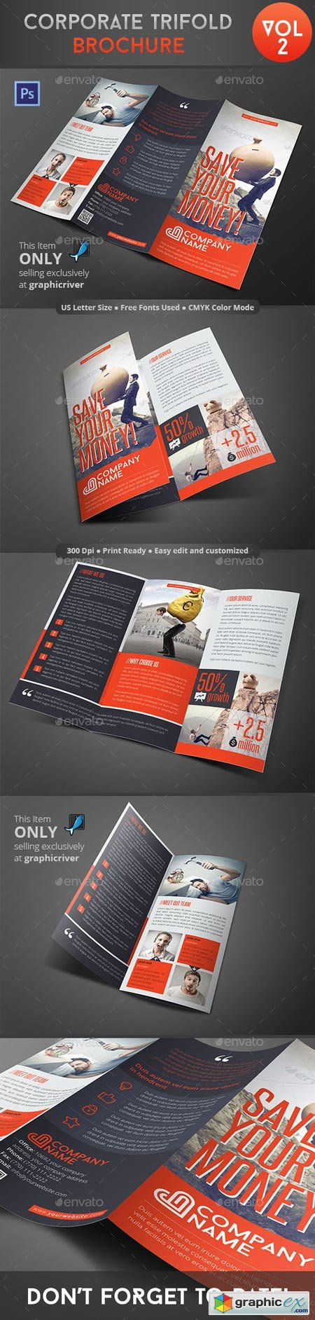Corporate Trifold Brochure Vol 2 8953109