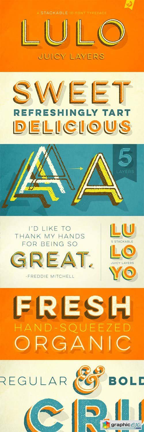 Lulo Font Family - 10 Fonts for $49