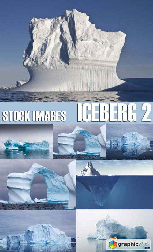 Stock Photos - Iceberg 2, 25xJPG
