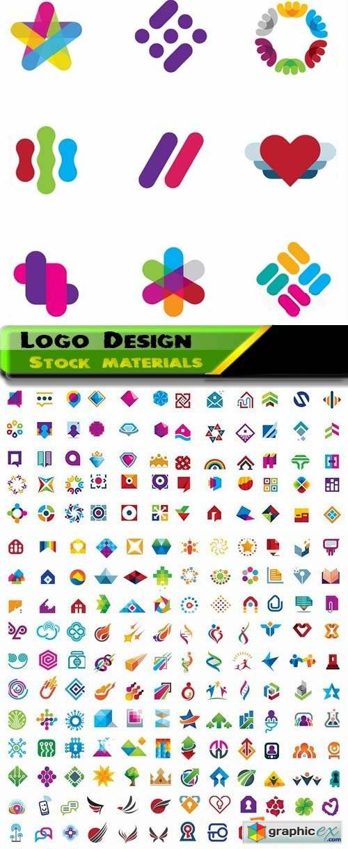 Logo Design in vector Set from stock 32 25xEPS