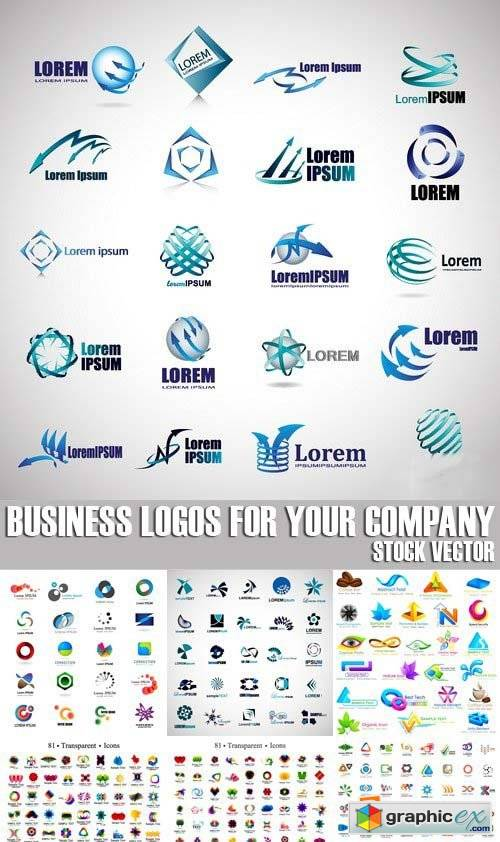 Business logos for your company, 25xEPS