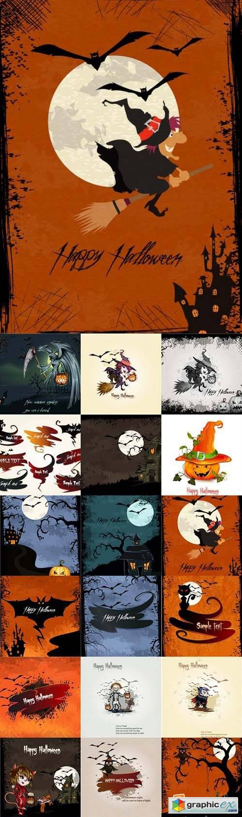 Happy Halloween Vector Set 1