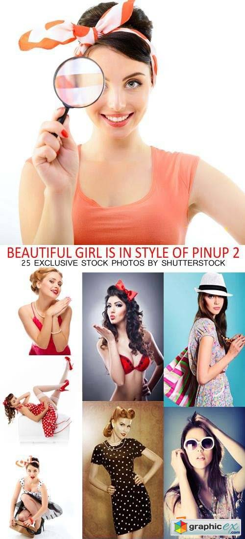 Beautiful Girls in Style of Pinup 2, 25xJPG