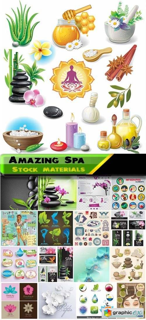 Amazing Elements and logos for spa 25xEPS