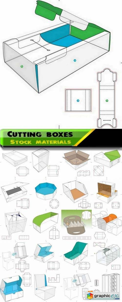 Template for cutting boxes 6 25xEPS