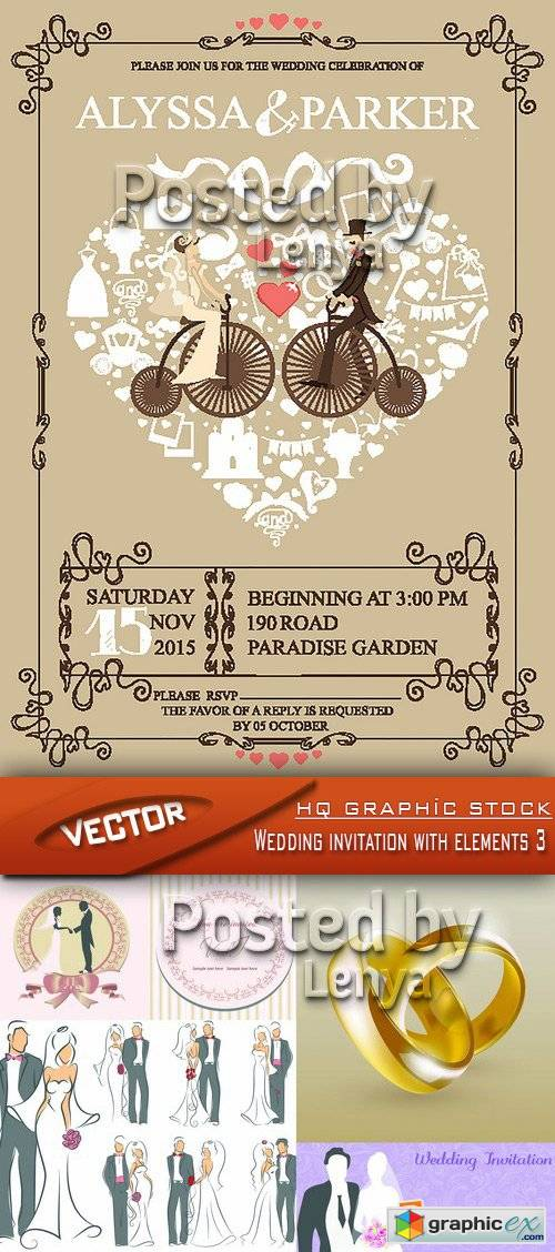 Stock vector wedding invitation with elements 3 free download stock vector wedding invitation with elements 3 stopboris Image collections