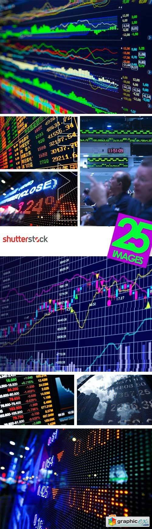 Stock & Forex Market Display Boards 25xJPG
