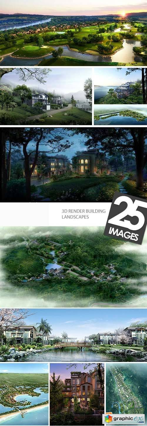 3D Render Building Landscapes 25xJPG
