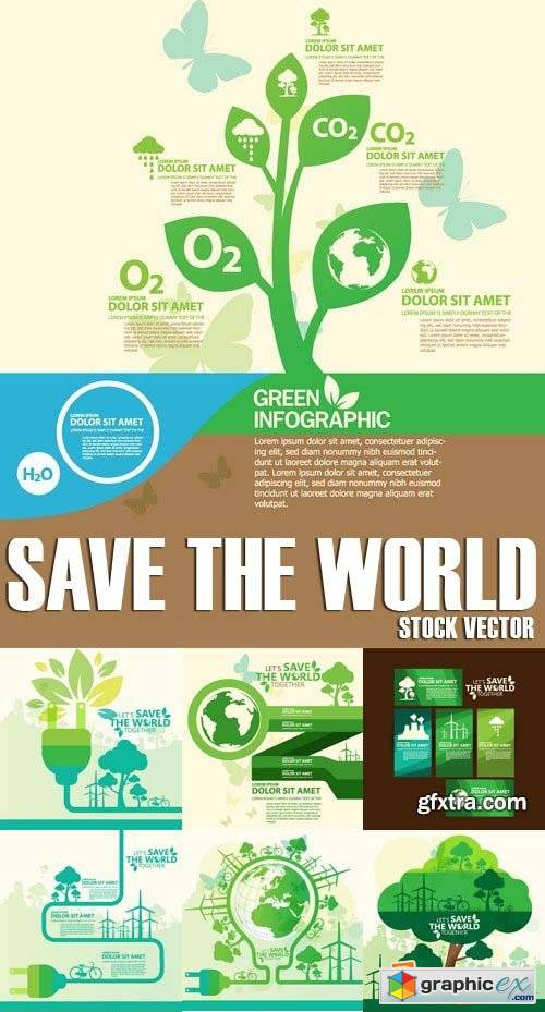 Stock vectors save the world 25xeps free download vector stock stock vectors save the world 25xeps gumiabroncs Images
