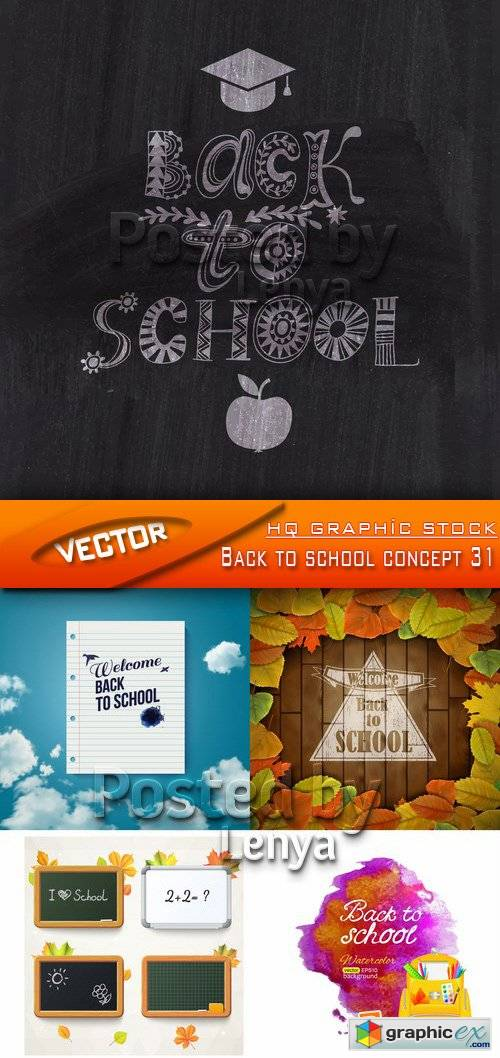 Stock Vector - Back to school concept 31
