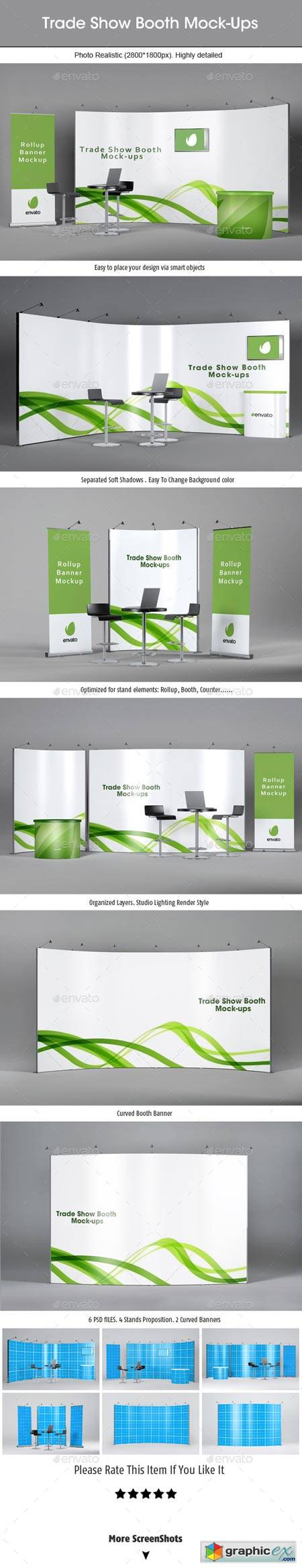 Trade Show Booth Mockups v2 9032999 » Free Download Vector Stock