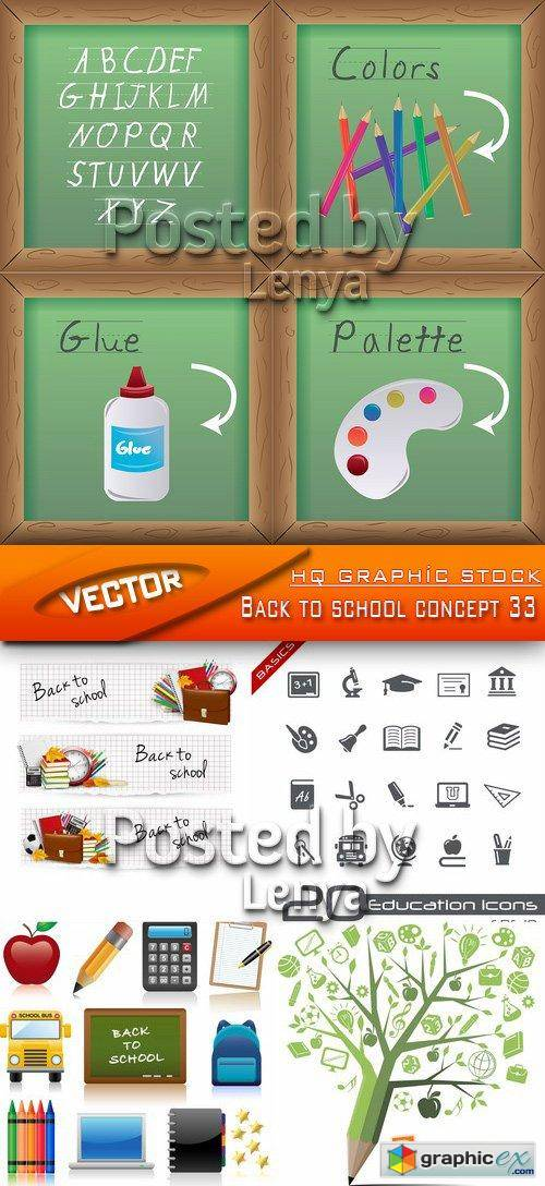 Stock Vector - Back to school concept 33