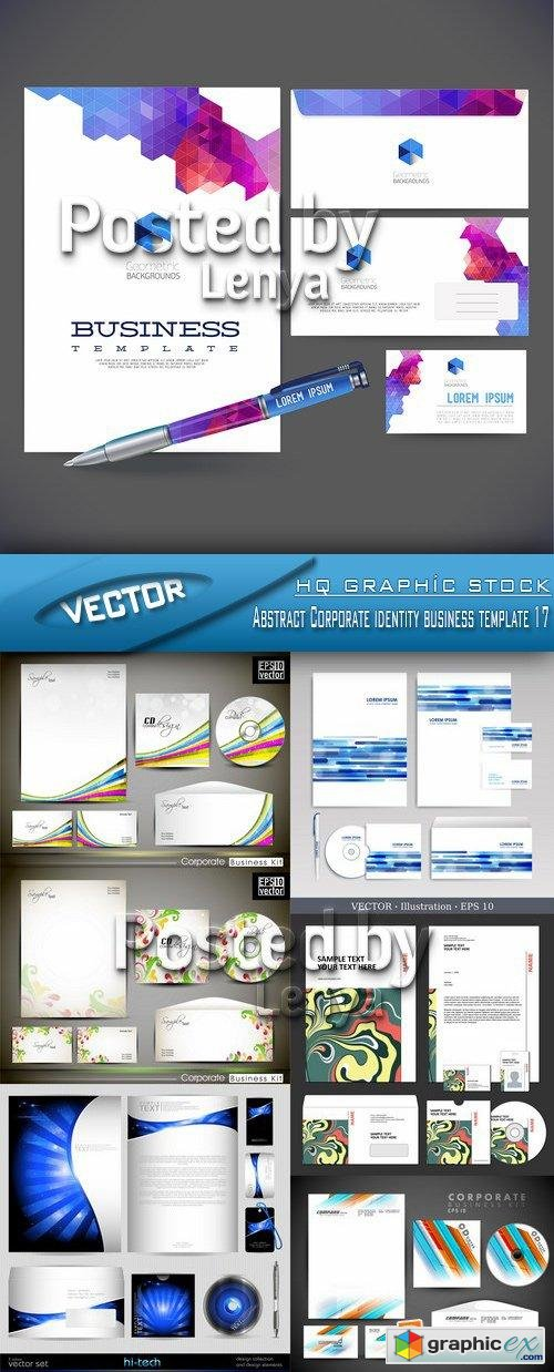 Stock Vector - Abstract Corporate identity business template 17