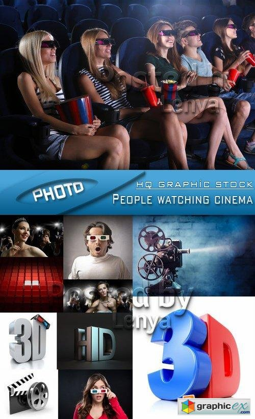 Stock Photo - People watching cinema