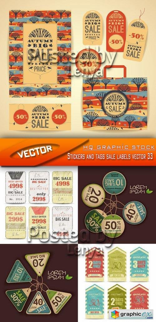 Stock Vector - Stickers and tags sale labels vector 33