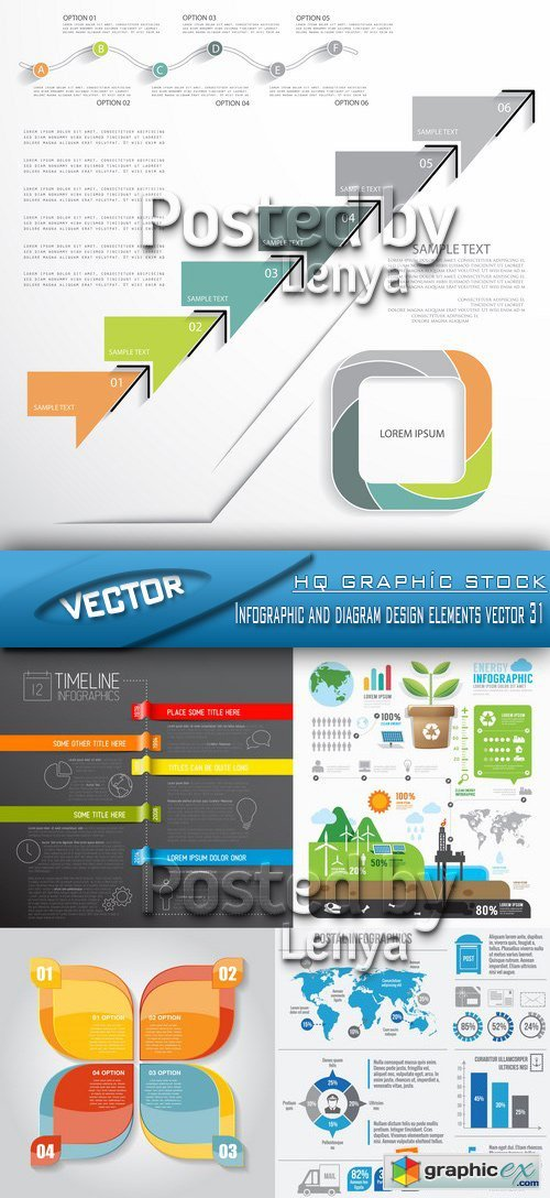 Stock Vector - Infographic and diagram design elements vector 31