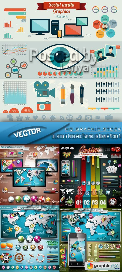 Stock Vector - Collection of Infographic Templates for Business Vector 41