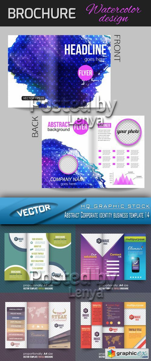 Stock Vector - Abstract Corporate identity business template 14