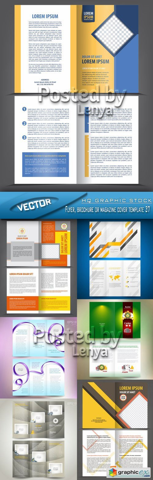 Stock Vector - Flyer, brochure or magazine cover template 37