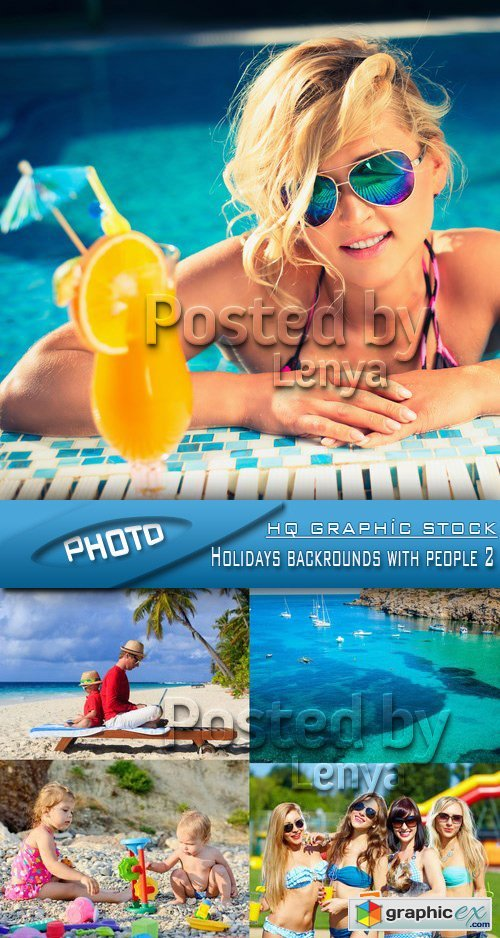 Stock Photo - Holidays backrounds with people 2
