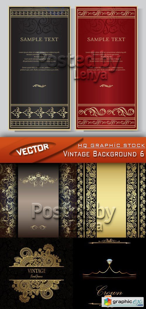 Stock Vector - Vintage Background 6