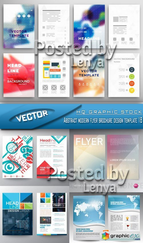 Stock Vector - Abstract modern flyer brochure design template 18