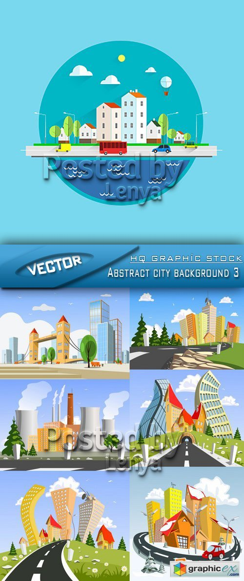 Stock Vector - Abstract city background 3