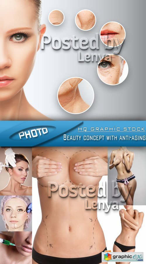 Stock Photo - Beauty concept with anti-aging
