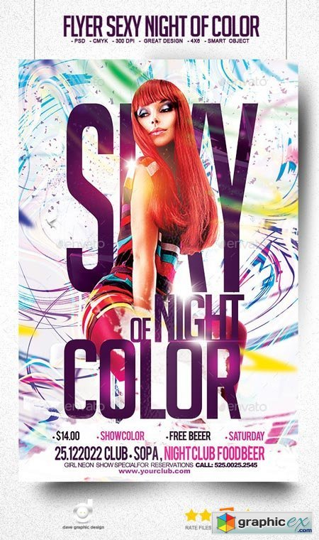 Flyer Sexy Night of Color 9170084