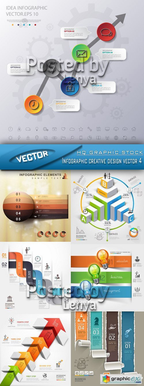 Stock Vector - Infographic creative design vector 4