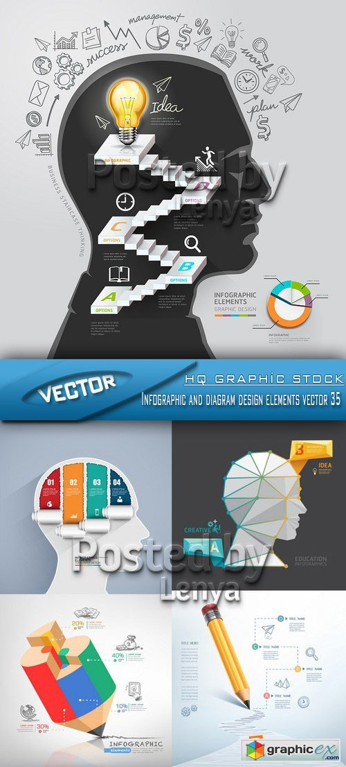 Stock Vector - Infographic and diagram design elements vector 35