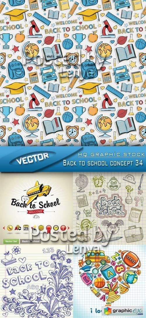 Stock Vector - Back to school concept 34