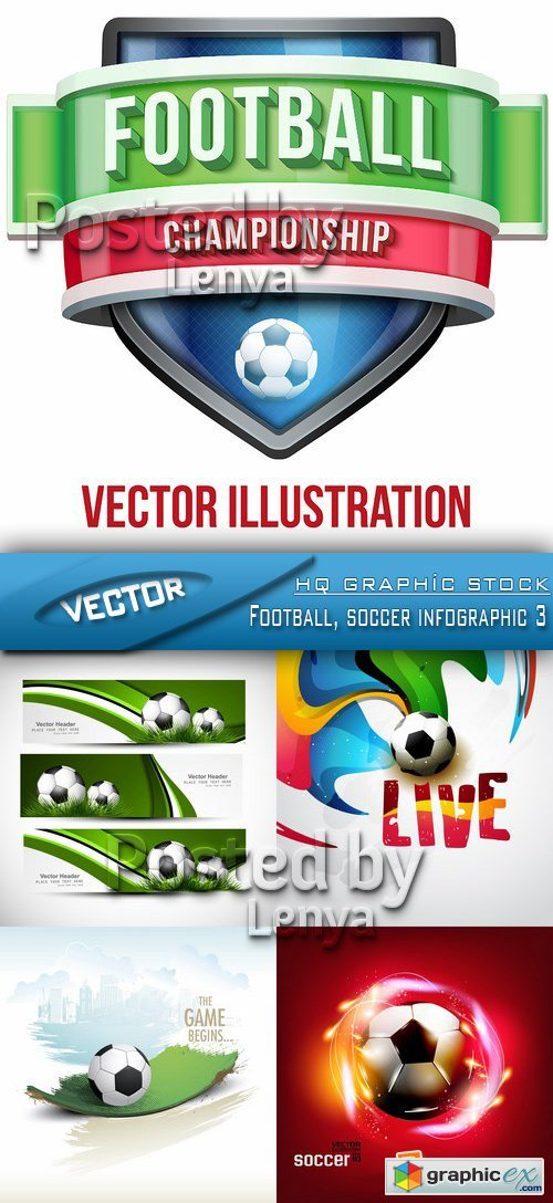 Stock Vector - Football, soccer infographic 3