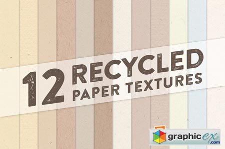 12 Recycled Paper Textures 34756
