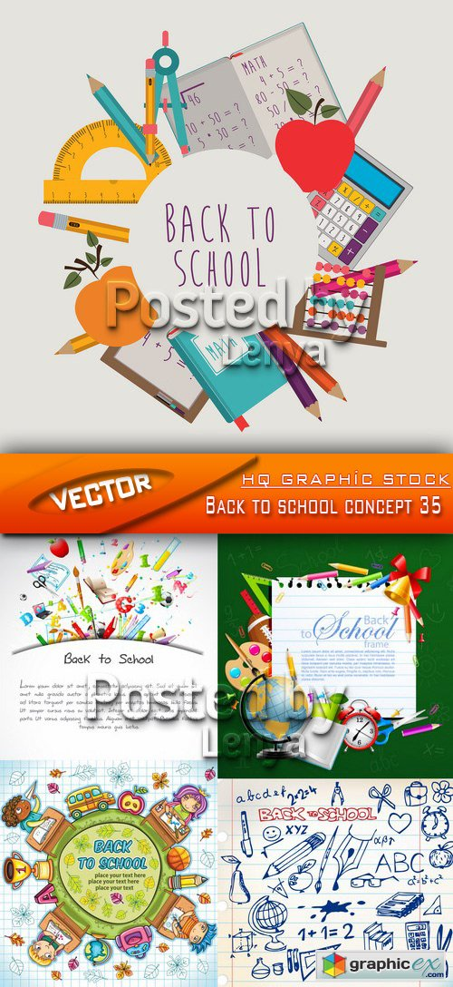 Stock Vector - Back to school concept 35