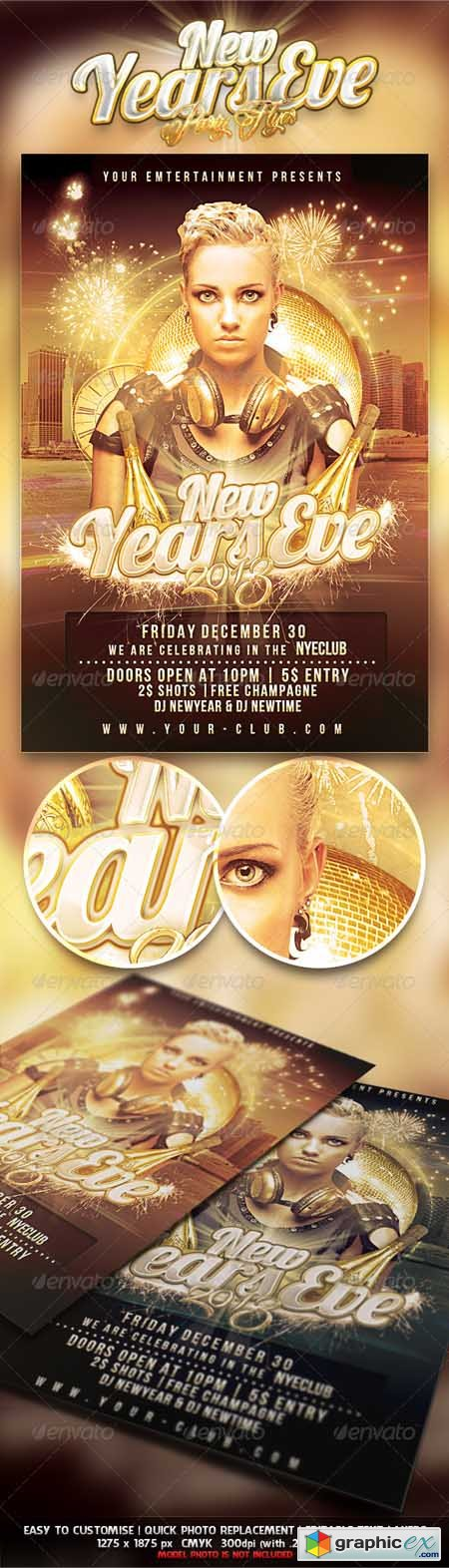 New Years Eve Party Flyer 3526475