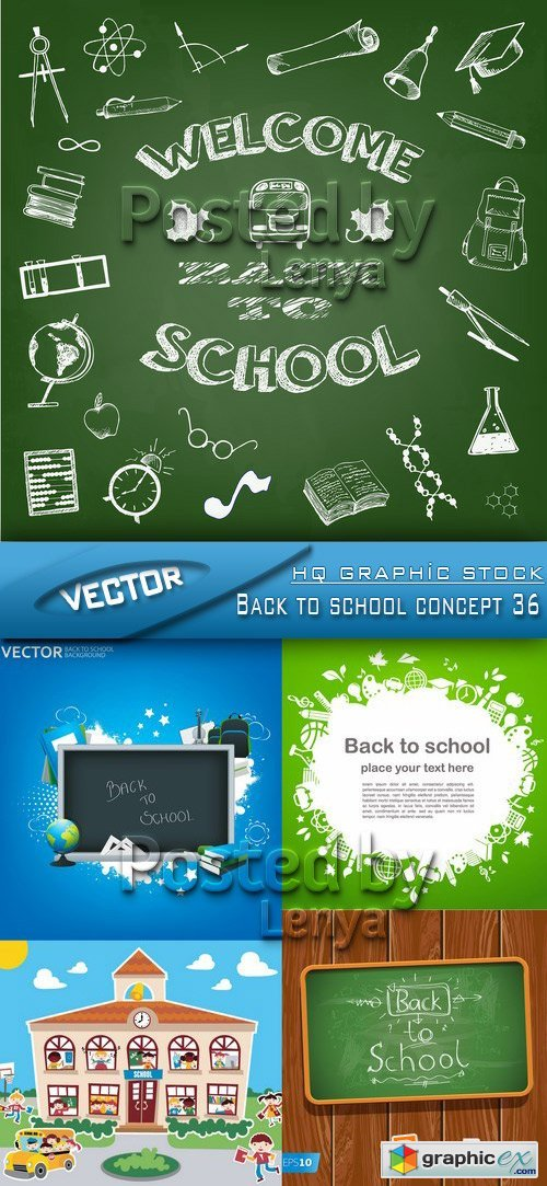 Stock Vector - Back to school concept 36
