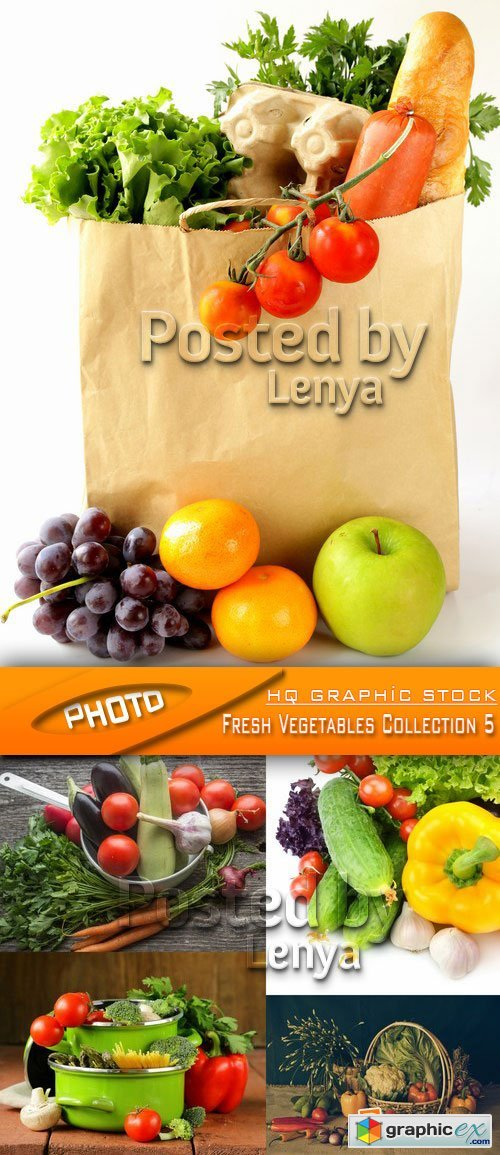 Stock Photo - Fresh Vegetables Collection 5
