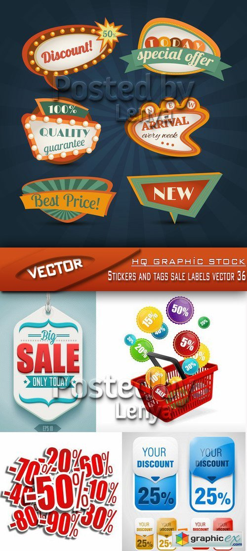 Stock Vector - Stickers and tags sale labels vector 36