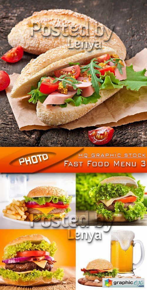 Stock Photo - Fast Food Menu 3