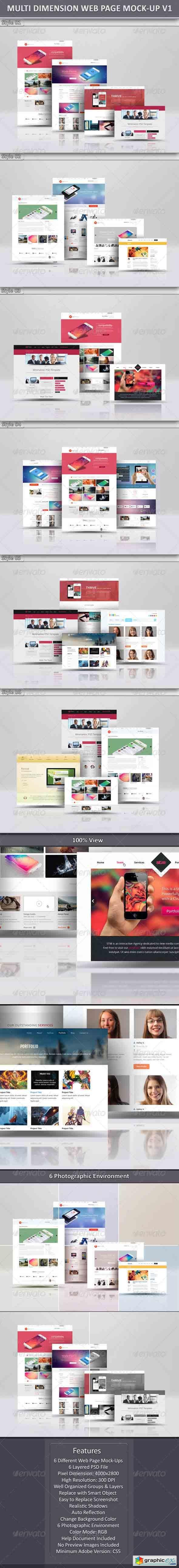 Multi Dimension Web Page Mock-Up  6798438