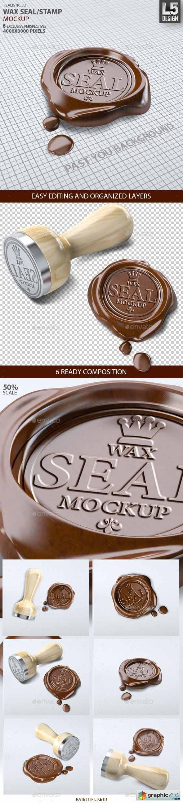 Wax Seal Stamp Mock-up 9250563