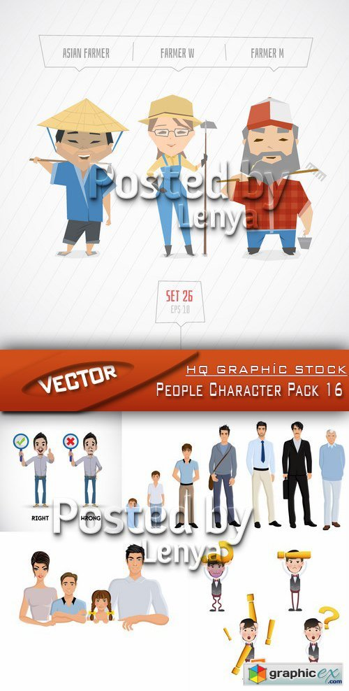 Stock Vector - People Character Pack 16