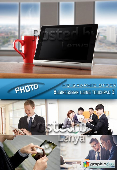 Stock Photo - Businessman using touchpad 2