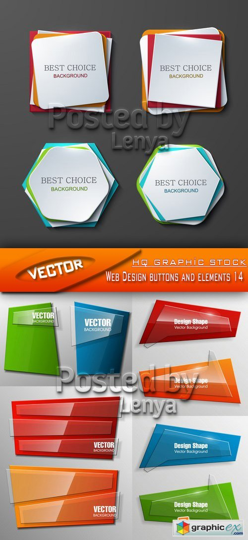 Stock Vector - Web Design buttons and elements 14