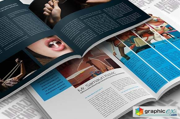 indesign magazine template - creativemarket 16187 » free download, Powerpoint templates