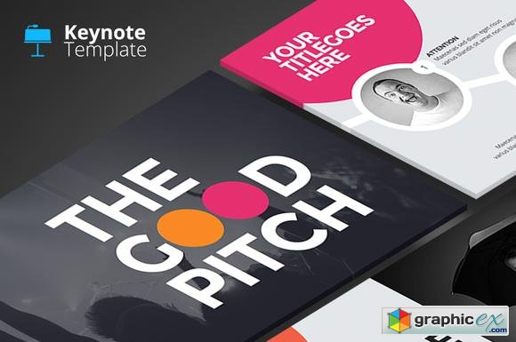 The Good Pitch - Keynote Template - Creativemarket 95997
