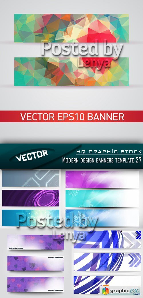Stock Vector - Modern design banners template 27