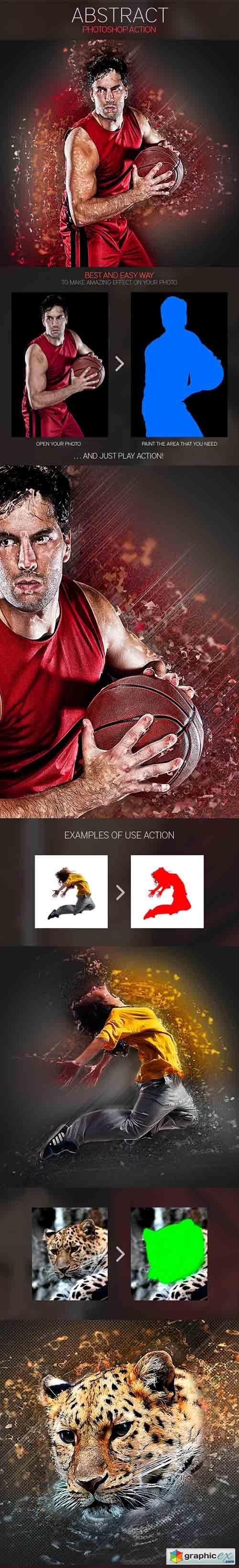 Abstract Photoshop Action 9325380